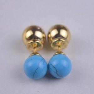 Henri Bendel Natural Turquoise Earrings
